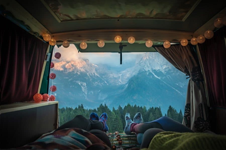 Beautiful View While Van Camping