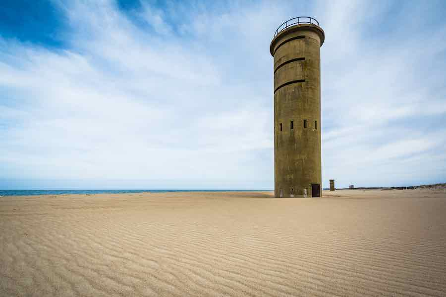 Camping in Delaware: World War II Observation Tower at Cape Henlopen State Park