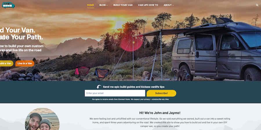 Gnomad Home van camping blog