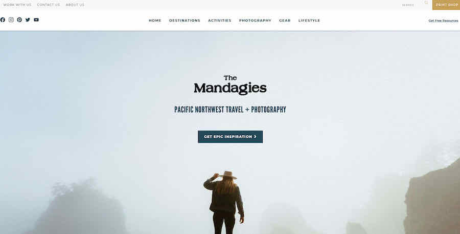 The Mandagies camping website