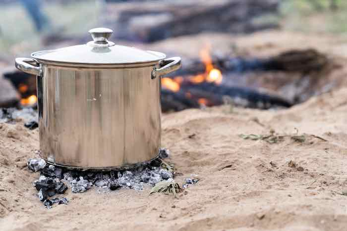 Cooking in a pot