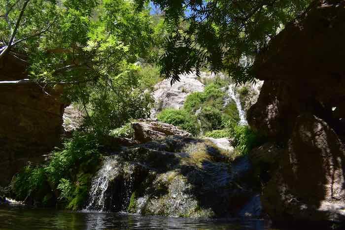waterfalls and creeks at Sitting Bull Falls, NM
