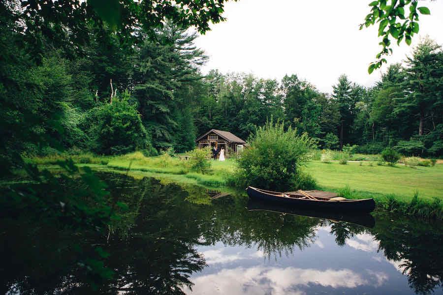 Wedding near Pond in Mount Tremor, New York