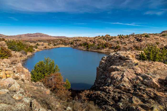 Osage Lake in Wichita Mountains Wildlife Refuge