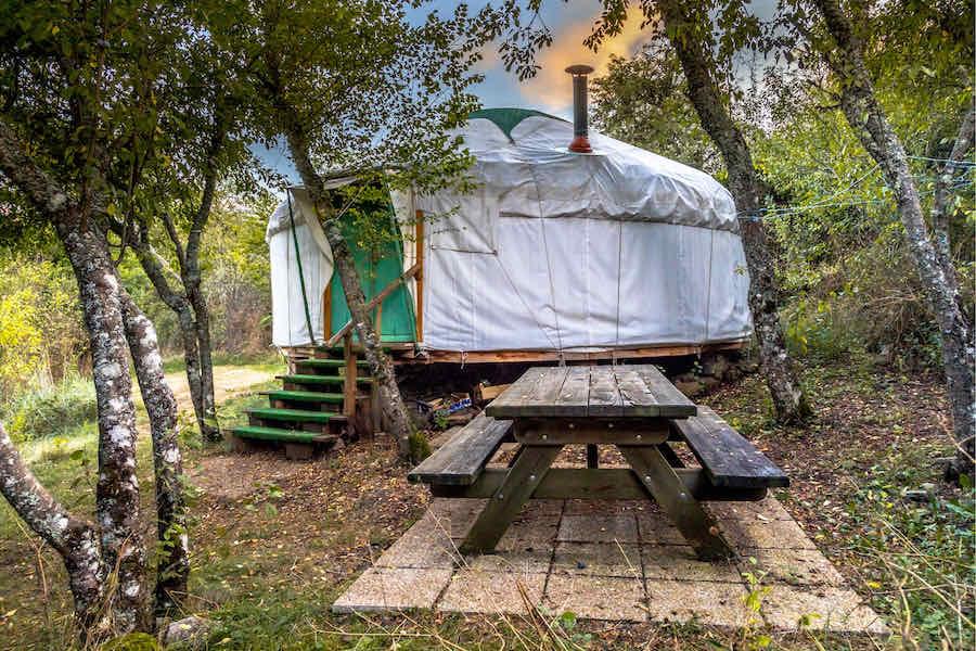 traditional yurt glamping rental